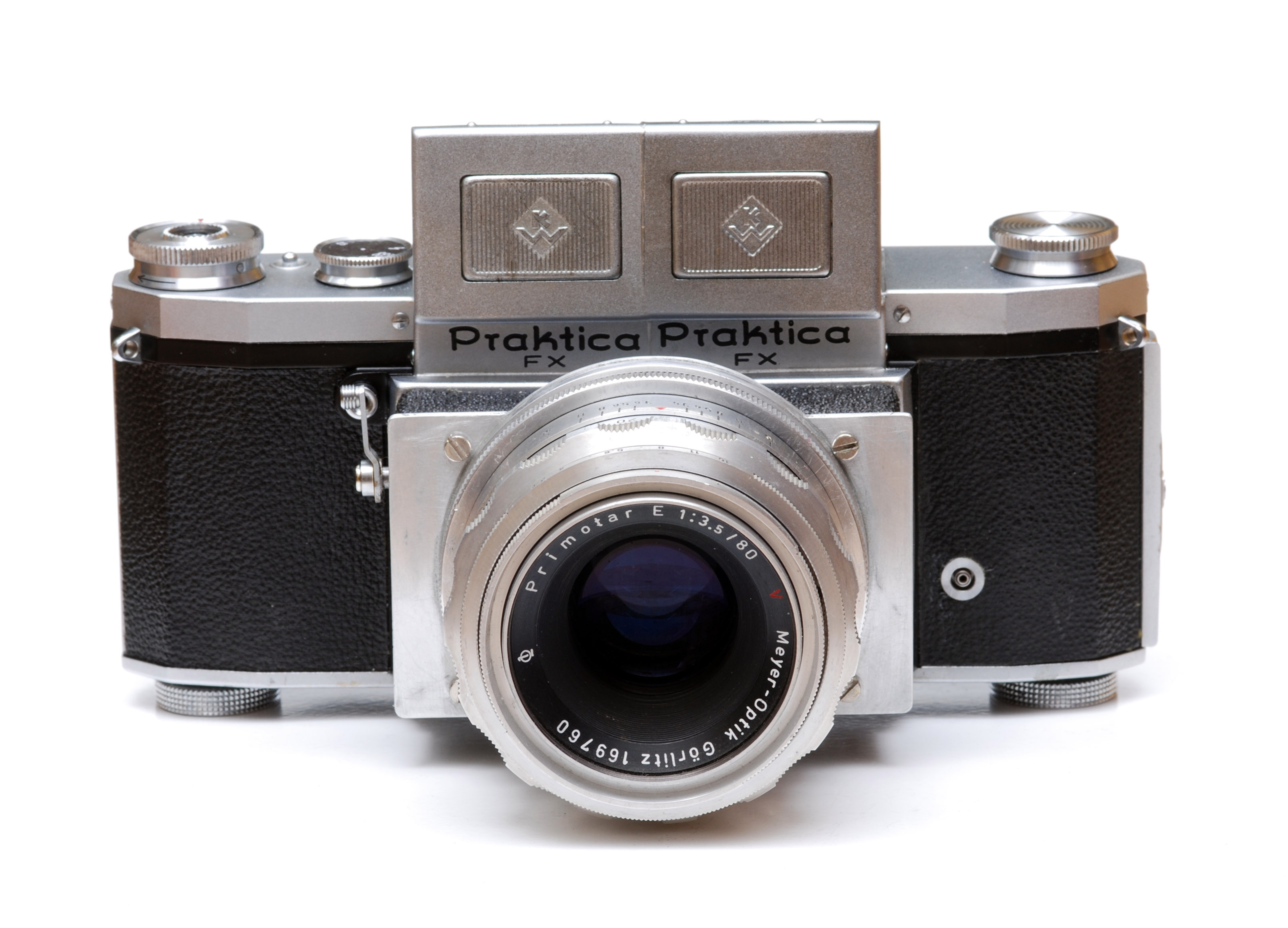 Two beautiful praktica cameras the ee and the b electronic