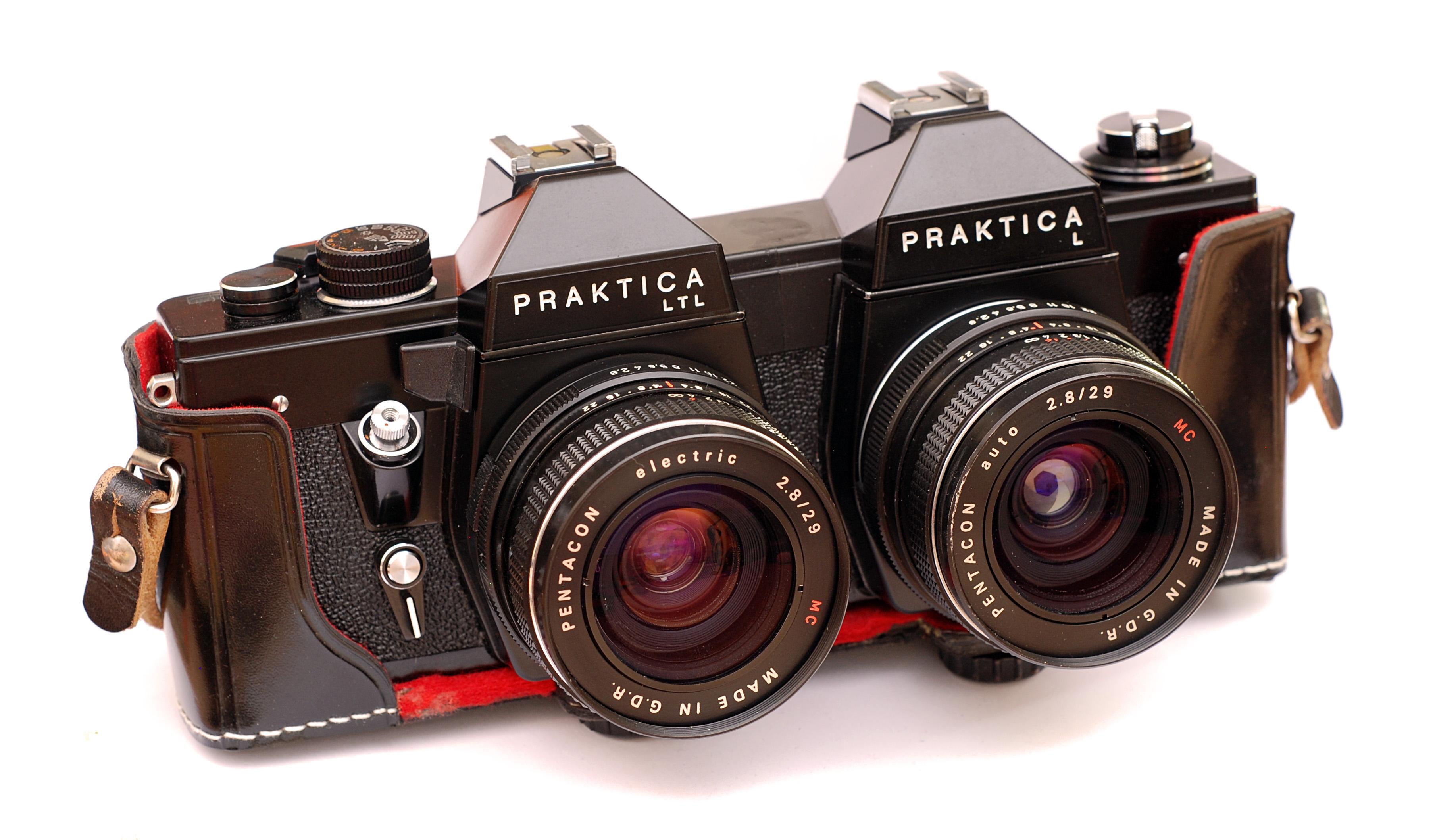 Praktica l slr mm camera with tessar carl zeiss jena ddr mm f